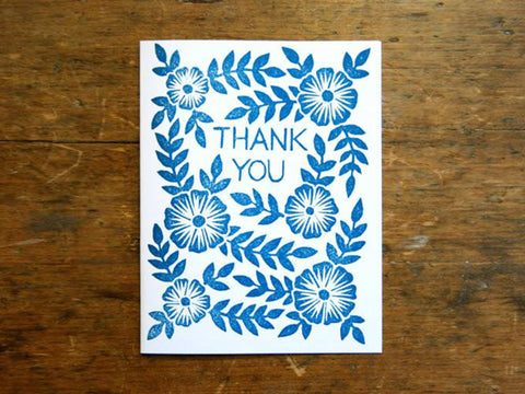 GR09 Thank You Block Printed Greeting Cards