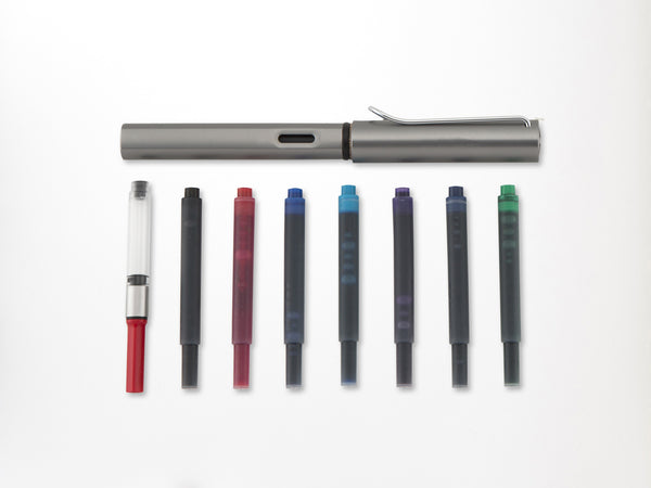 Lamy Boxed Gift Set AL Star Graphite Fountain Pen with 7 Color Refills