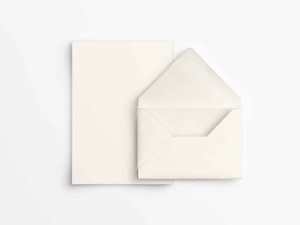 Crane & Co Letter Half Sheets - Ecru White