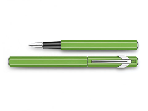 Caran D'Ache 849 Metal Fountain Pen Fluorescent Green