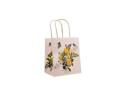 Mini Gift Bag Yellow Roses