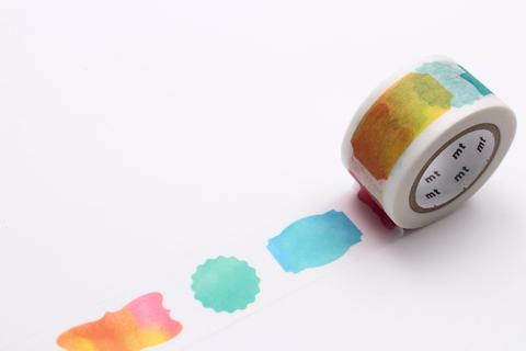 MT Masking Tape - 25 mm Label Watercolor