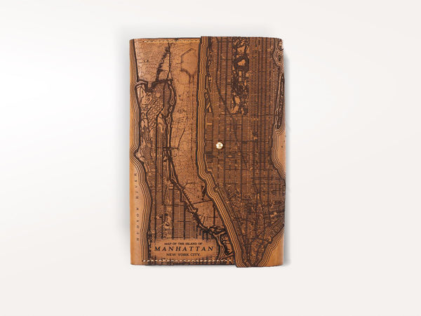 Tactile Craftworks Manhattan Map Refillable Leather Journal