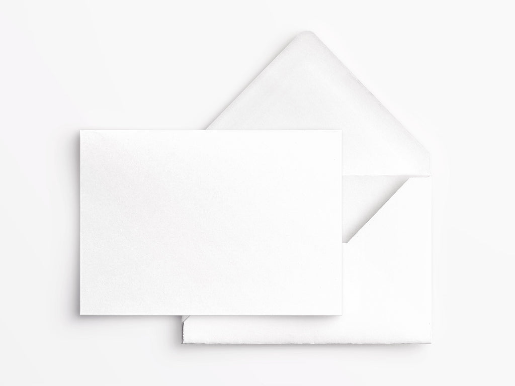 Crane & Co Correspondence Cards - Pearl White