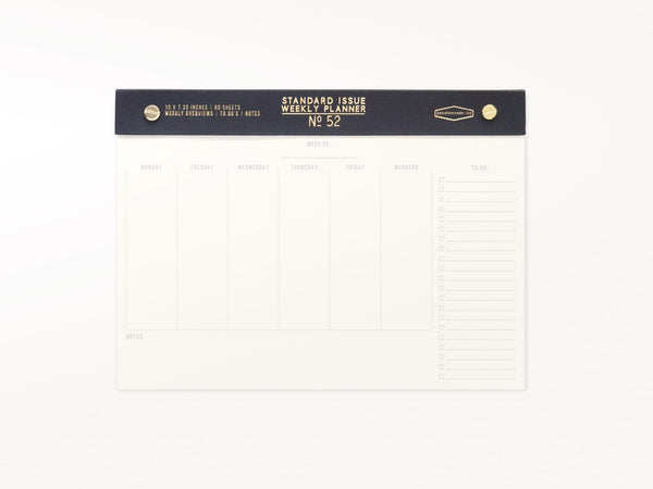 Standard Issue Post Bound Weekly Planner Pad Black