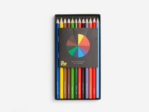 The Psychology of Color Set of 12 Colored Pencils