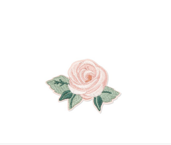 Rose Embroidered Patch