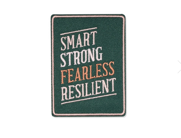 Smart Strong Fearless Embroidered Patch