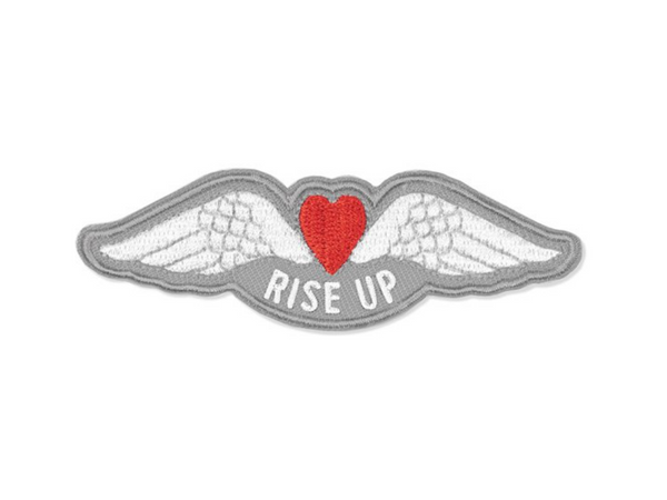 Rise Up Wings Embroidered Patch