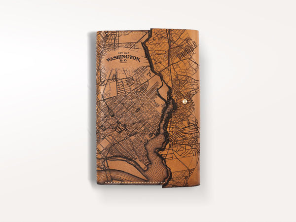 Tactile Craftworks Washington Map Refillable Leather Journal