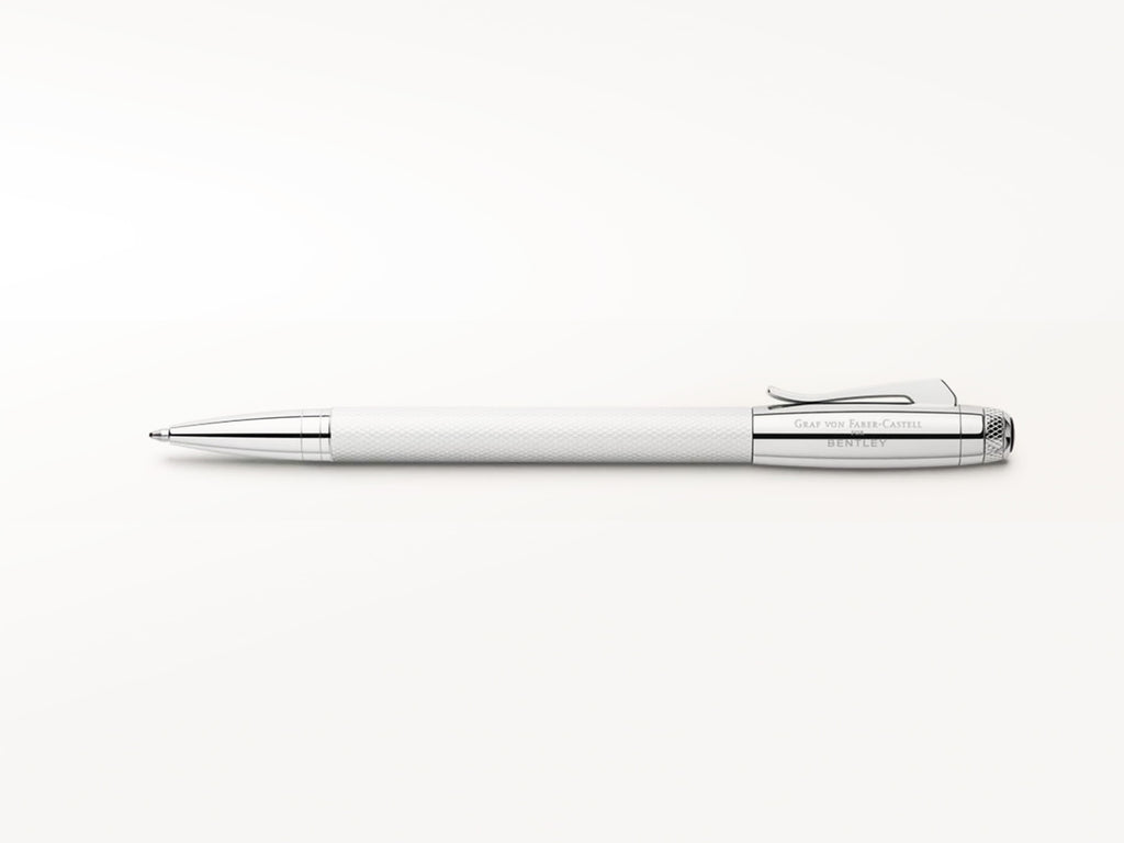 Graf von Faber Castell Bentley Ballpoint Pen - White Satin