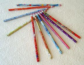 Chiyogami Paper Covered Pencils Misc Designs