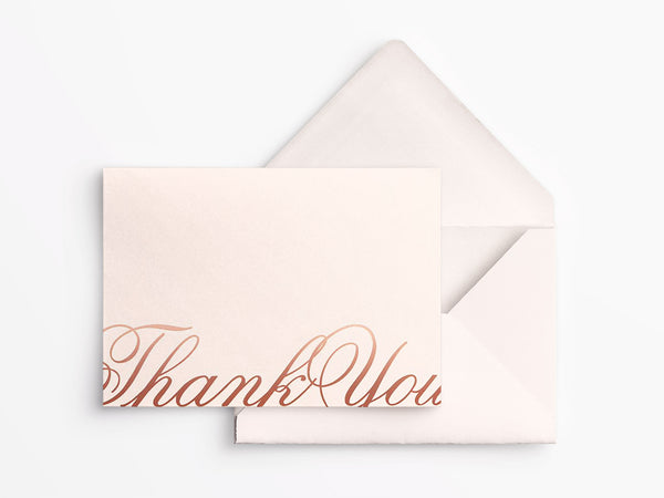 Crane & Co Boxed Thank You Notes - Copper Foil Script
