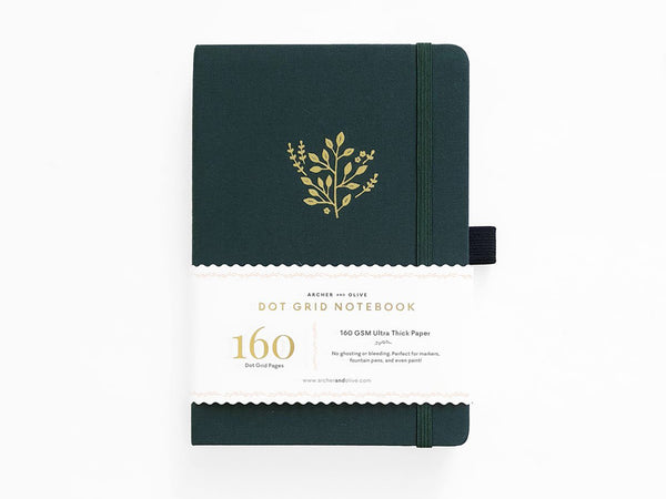 Archer & Olive Dot Grid Journal - Deep Green