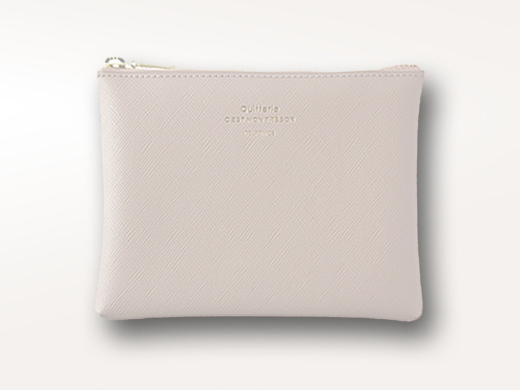 Delfonics Quitterie Zip Pouch Cream-Office + Desktop-Delfonics-Jenni Bick Custom Journals