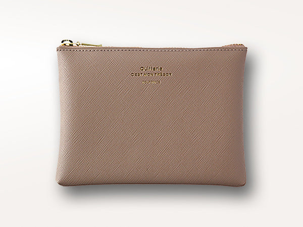 Delfonics Quitterie Zip Pouch Taupe-Office + Desktop-Delfonics-Jenni Bick Custom Journals