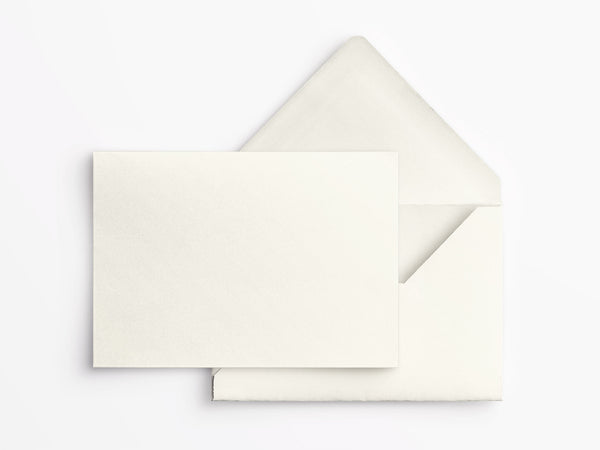Crane & Co Correspondence Cards - Ecru White