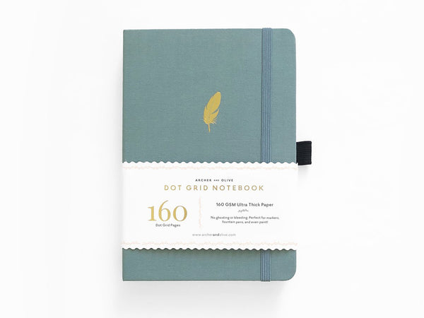 Archer & Olive Dot Grid Journal - Floating Feather