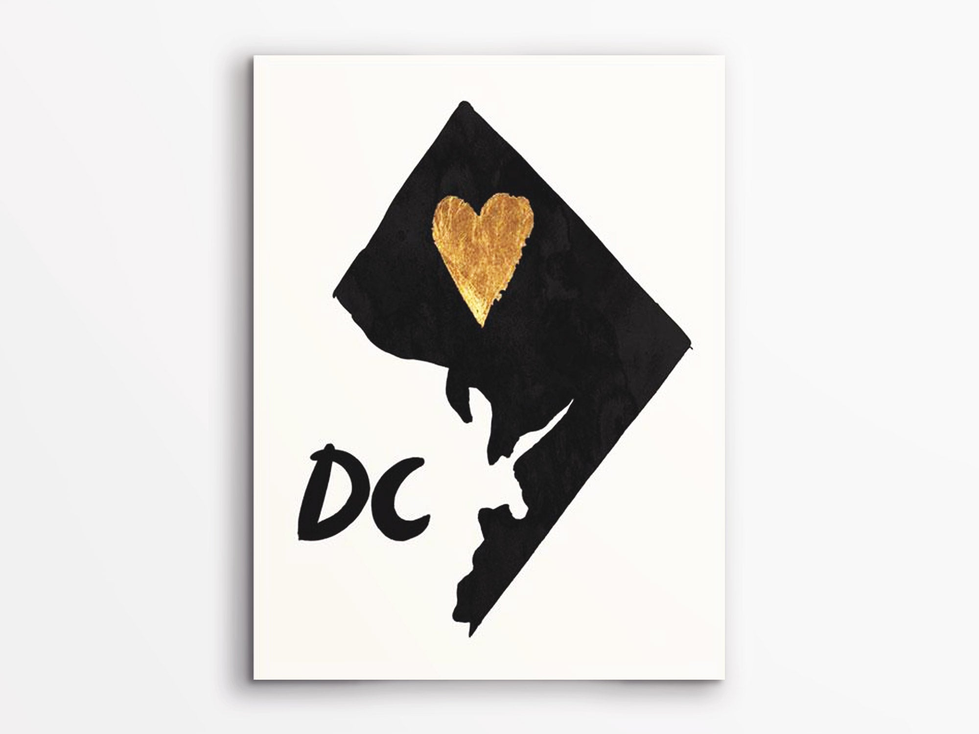 home is where the heart is dc art print jenni bick dc