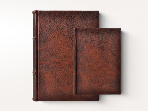 Handmade Italian Distressed Leather Journal - Deckled Pages