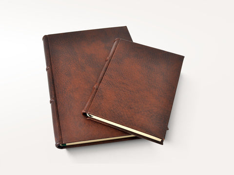 Handmade Italian Distressed Leather Journal - Lined Pages