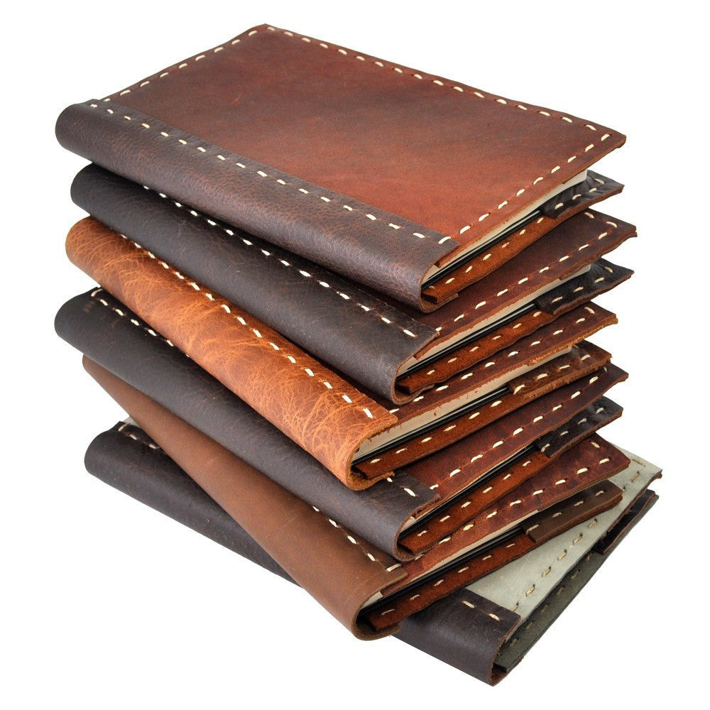 handstitched rustic leather notebook cover jenni bick dc