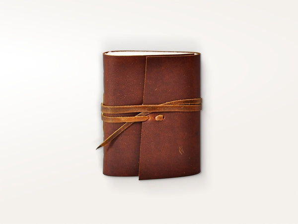 Journals - Personalized Hand Sewn Leather Pocket Journal - Jenni Bick Bookbinding - 1