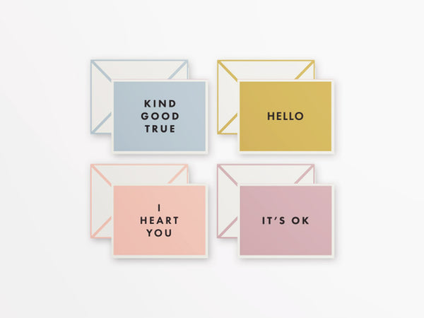 Wit & Delight Minimal Just Because Card Set