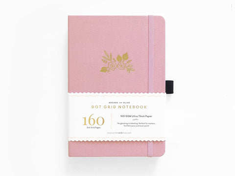 Archer & Olive Dot Grid Journal - Light Pink