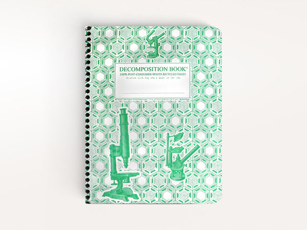Notebooks - Coilbound Microscope Decomposition Book with Grid Pages - Michael Roger Press - 1