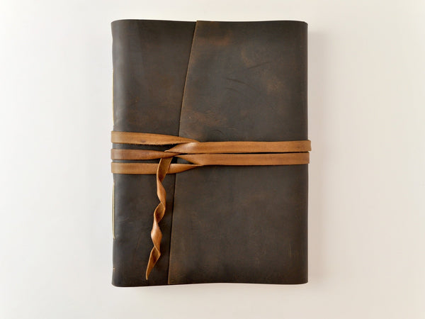 Mount Everest Extra Large Leather Sketchbook-One of a Kind-Jenni Bick Bookbinding-Jenni Bick Custom Journals