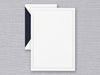 Crane & Co Letter Half Sheets - White with Navy Blue Triple Hairline