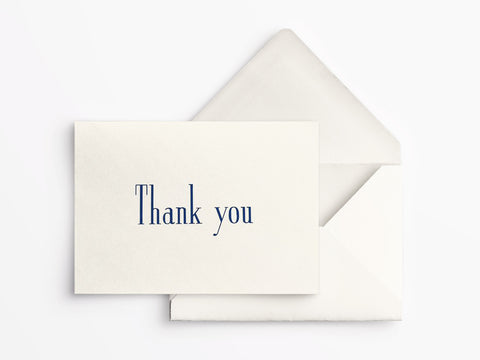 Crane & Co Boxed Thank You Notes - Navy