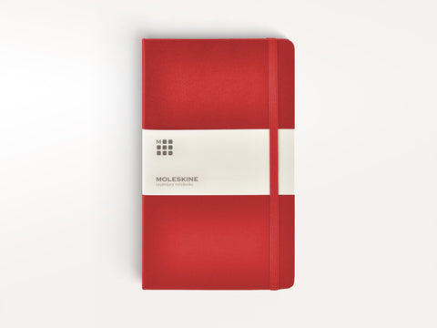 Classic Hardcover Moleskine Notebook - Red