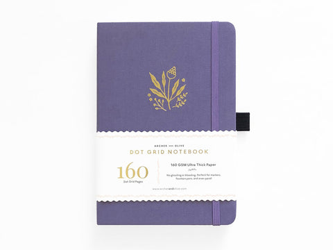 Archer & Olive Dot Grid Journal - Floral Details