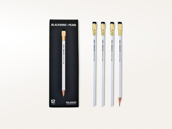 Pens & Pencils - Palomino Blackwing Pearl Pencils Set of 12 - Blackwing - 1