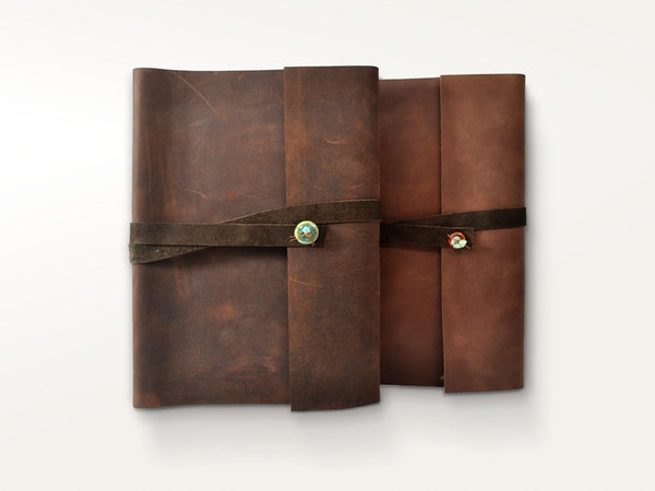 Photo Albums - Santa Fe Leather Photo Album With Slip-In Sleeves - Jenni Bick Bookbinding - 1