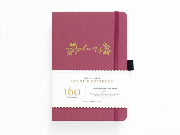 Archer & Olive Dot Grid Journal - Floral Plans