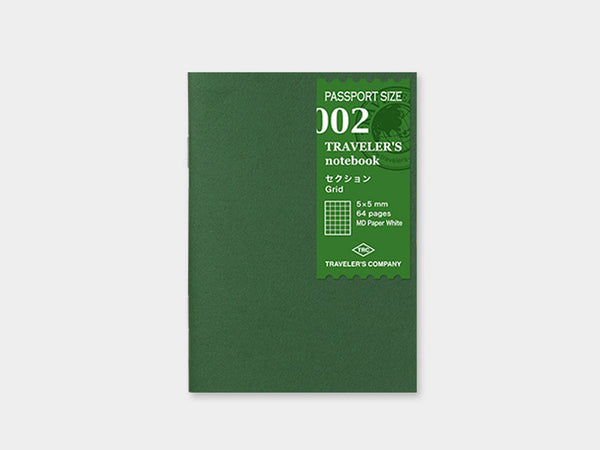 002 Grid Refill TRAVELER'S Notebook - Passport Size