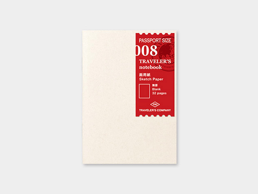 008 Sketch Paper Refill TRAVELER'S Notebook - Passport Size