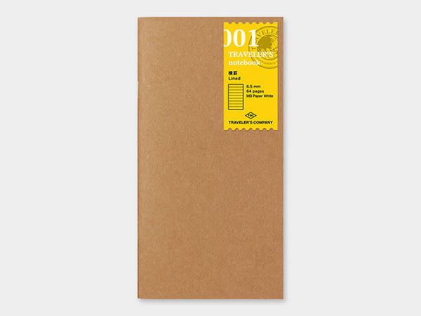 001 Lined Refill TRAVELER'S Notebook - Regular Size