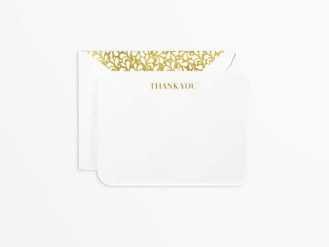 Crane & Co Boxed Thank You Notes - Engraved Rounded Corner