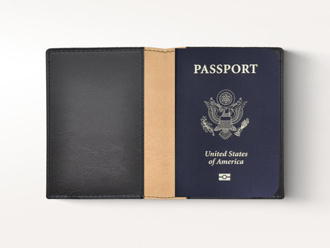 Sleek Padded Italian Leather Passport Cover