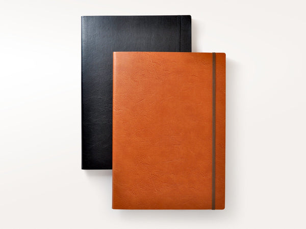 Sleek Bicolor Italian Leather Sketchbook A4