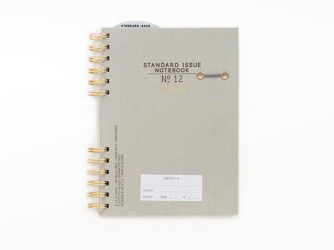 Standard Issue No 12 Spiral Notebook