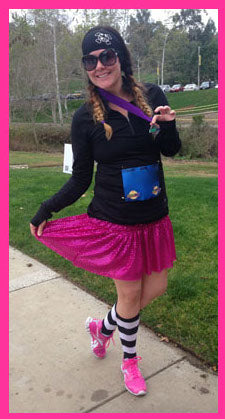 Magenta Sparkle Running Skirt