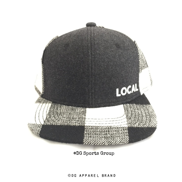 Local Plaid Snapback Cap -  Snapback Cap | DG Apparel Brand