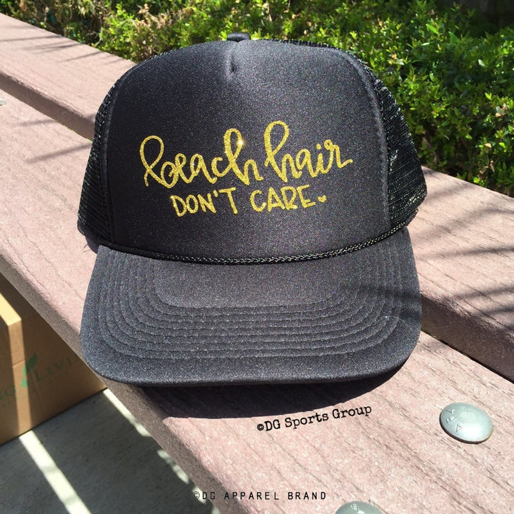 Beach Hair Don't Care Trucker Hat -  Trucker Hat | DG Apparel Brand