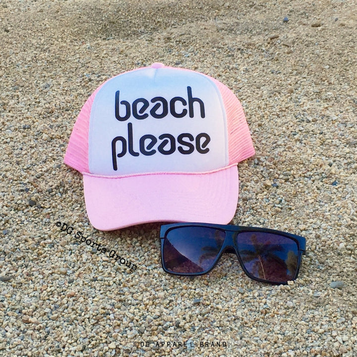 Beach Please Trucker Hat -  Trucker Hat | DG Apparel Brand