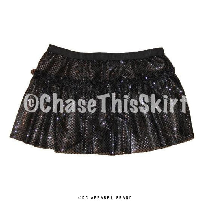 Black Sparkle Running Skirt -  Running Skirt | DG Apparel Brand